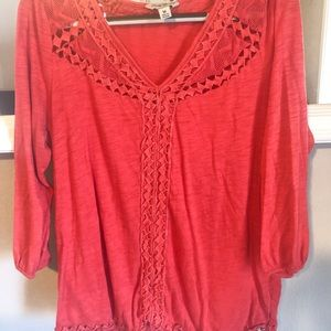 Red/Orange Lucky brand top